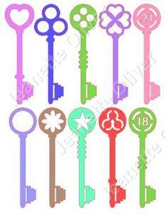 Set of 10 Keys SVG Digital Cutting File by CraftaholicCreation on Etsy