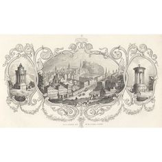 Published in 'The Scottish Tourist' Edition, 1850 edited by William Rhind Steel engraving 1850 Image size 175 x 100 mm Visit Edinburgh, Scotland, Tapestry, Hanging Tapestry, Tapestries, Needlepoint, Wallpapers, Rug Hooking