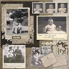 Family History 27 Cute Scrapbook Ideas with Images and Instructions - My Happy Birthday Wishes Your Scrapbooking Vintage, Scrapbook Paper Crafts, Scrapbook Cards, Scrapbooking Ideas, Ideas Scrapbook, Heritage Scrapbook Pages, Scrapbook Page Layouts, Album Vintage, Vintage Clip