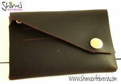 Monedero para caballeros en cuero, hecho a mano. Man leather coin purse, handmade. www.shimuorfebreria.com