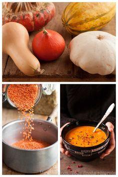 Potage d'automne bien épais aux lentilles corail et courge musquée (Vegan, Sans Lait, Sans Gluten, Sans Oeufs, IG Bas)