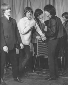 The Rolling Stones: Brian Jones, Mick Jagger, Keith Richards, Bill Wyman, and Charlie Watts