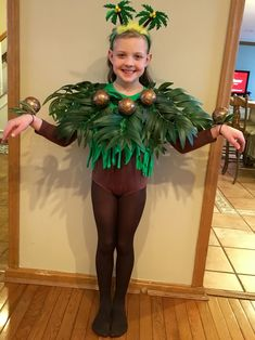 My daughter in the musical The Jungle Book. We handmade this costume!