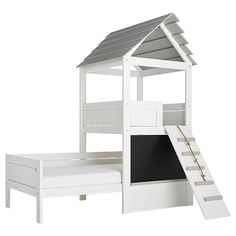 Play Tower Children's Bed by Lifetime Kids Single Wardrobe, 4 Door Wardrobe, Kid Beds, Bunk Beds, Blackboard Wall, Childrens Beds, Under Bed Storage, Cool Beds, Solid Pine