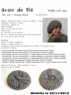 tricot-couture - Ben J - Picasa Albums Web Crochet Home, Crochet Baby, Knit Crochet, Knitting Stitches, Baby Knitting, Tricot Baby, Knitted Beret, Knitting Projects, Diy And Crafts