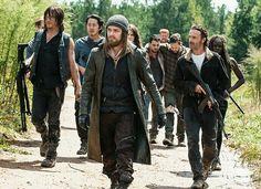 Daryl, Glenn, Jesus, Rick, and Michonne - Season 6