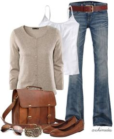 Great look for casual work, kids school then to children's hospital. Comfortable and preppy enough