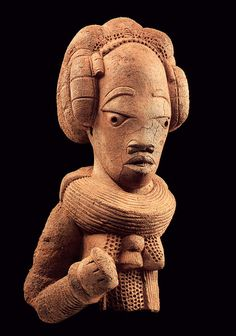 Ancient Nok civilization (Nigeria) female royal figure 500BC
