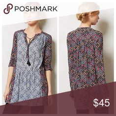 Anthropologie Humboldt Tunic Perfect condition. I wore as a small/4/6, and it fits great. Anthropologie Tops Tunics
