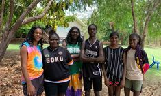 Six of the eight year 12 graduates from Yirrkala bilingual school