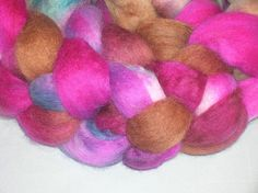 Merino Wool Roving  Hand dyed Spinning Fiber by SussesSpindehjrne, $16.00