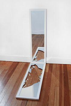 source-flow:  Derek Paul Boyle - broken mirror below another mirror - 2012 http://derekpaulboyle.com/