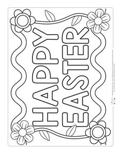 Happy Easter Coloring Page for Kids printables Printable Easter Coloring Pages for Kids - Itsy Bitsy Fun Easter Coloring Pages Printable, Easter Bunny Colouring, Easter Worksheets, Easter Egg Coloring Pages, Coloring Pages For Kids, Free Easter Printables, Kids Coloring, Free Coloring, Party Printables