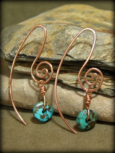 Turquoise Earrings, Love the Earwires!