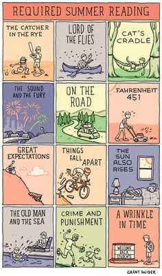 Required Summer Reading, Grant Snider of Incidental Comics