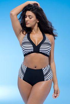 4077742a6389e Fashion Bug Expert Linear Bikini Swimsuits For All