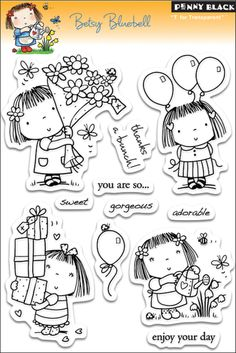 Penny Black Clear Stamps 5 Inch X 7.5 Inch Sheet-Betsy Bluebell
