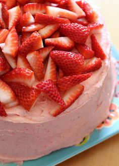 gluten free white cake with strawberry topping - making this for Easter.