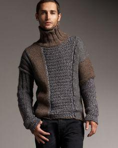 Pin by paliqu / fashion inspired by life on knit men men sweater, knitting Diy Pullover, Knit Fashion, Mens Fashion, Diy Clothes Videos, Knitting Designs, Mode Style, Streetwear, Knitwear, Knitting Patterns