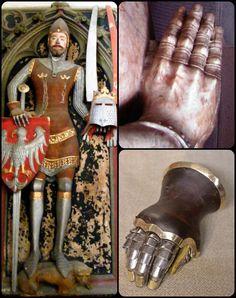 Ritter Rüstung Handschuh in Technologie gekochtes Leder