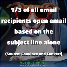 1/3 of all email recipients open email based on the  subject line alone  (Source: Convince and Convert)