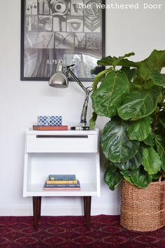 Furniture Reveal: White and Walnut Modular Mid Century Nightstand