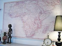Sweet pink Africa map.