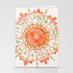 how strange it is to be anything at all Stationery Cards by MEERA LEE PATEL | Society6