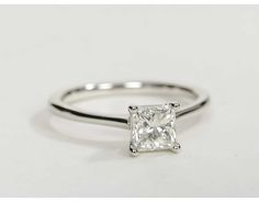 beautiful bands wedding shared prong princess cut diamond