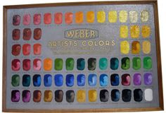 hand painted sample board