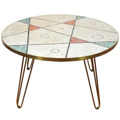 Charming German Glass-Tiled Mosaic Coffee Table | From a unique collection of antique and modern coffee and cocktail tables at http://www.1stdibs.com/furniture/tables/coffee-tables-cocktail-tables/