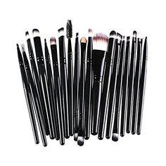 AMarkUp 20 Pcs Pro Makeup Brushes Set Powder Foundation Eyeshadow Eyeliner Lip Cosmetic Clearance Brush Black -- Check out this great product.
