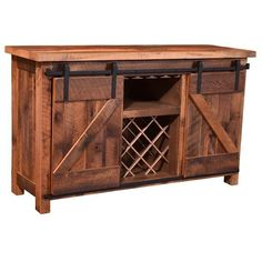 Sliding Barn Door Wine Cabinet ($2,658) ❤ liked on Polyvore featuring home, furniture, storage & shelves, bar cabinets, liquor display cabinet, door furniture, hand made furniture, colored furniture and handcrafted furniture