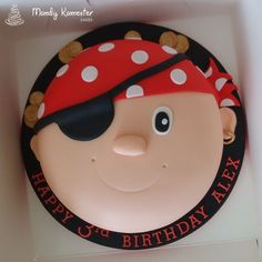 Pirate Cake Cute Complete With Eye Patch And Pieces Of