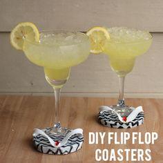 DIY Dollar Store Flip Flop Coasters for Summer - Shrimp Salad Circus