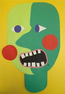 mrspicasso's art room: Second Grade- Picasso monsters 3rd Grade Art Lesson, Halloween Art Projects, Cubist Art, Second Grade, Grade 2, Fourth Grade, Autumn Art, Art Classroom, Teaching Art