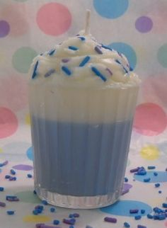 Vanilla Buttercream Scented Votive Milkshake Candle by Pookaberrys, $5.00