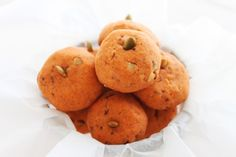 "Pumpkin Spice Cookies Recipe.  ""I'd like to introduce you to my new favorite cookie.  Not only do they look like pumpkins they taste like the most wonderful pumpkin cookie.""  ""These are melt in your mouth cookies! I can't rave over them enough myself or you might get bored, but others said they LOVE me when they had them and they aren't even related to me."""