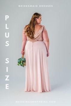 Feel your best in one of these flattering designer plus size bridesmaid dresses! Only $99 this November! # plussizebridesmaiddresses Blush Pink Bridesmaid Dresses, Blush Pink Wedding Dress, Junior Bridesmaids, Bridesmaid Dresses With Sleeves, Bridesmaid Dresses Plus Size, Designer Bridesmaid Dresses, Blush Pink Weddings, Affordable Wedding Dresses, Best Wedding Dresses