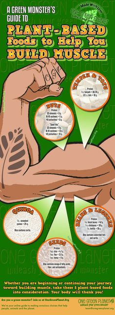 Plant-Based Foods That Will Help You Build Muscle [INFOGRAPHIC]