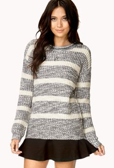 Fireside Heathered Stripe Sweater | FOREVER21 - 2000140210