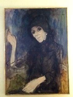 Painting of Karen Blixen. Karen Blixen museum, Rungsted Denmark .