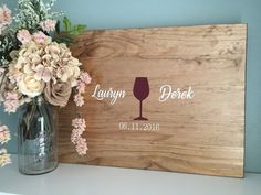 Rustic Wedding Guest Book Alternative /Wine by TheRusticEarth