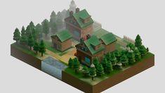 I remade Twinleaf Town in Blender