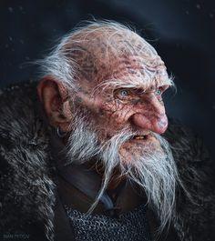 Snow Dwarves (Old Dwarf, Dwarf warrior Dwarf warrior - Ivan Dedov Fantasy Dwarf, Fantasy Rpg, Medieval Fantasy, Fantasy Portraits, Character Portraits, Character Art, Character Concept, Dnd Characters, Fantasy Characters
