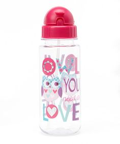 Loving this 'Owl You Need Is Love' 16.9-Oz. Insulated Water Bottle on #zulily! #zulilyfinds