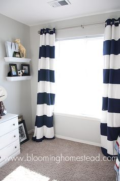 Learn how to make your own striped curtains #DIY #sewing