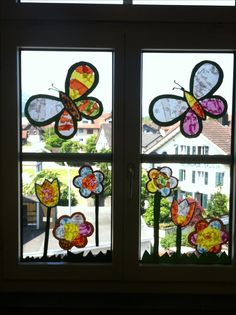 Fensterbild Schmetterling