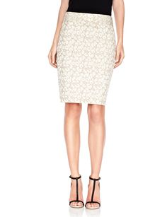Leopard Jacquard Pencil Skirt  Womens Skirts | THE LIMITED