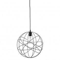 Suspension en métal de couleur noire Bloomingville - Décoration intérieure et luminaire design by Frenchrosa